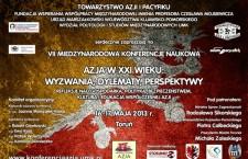 """Zaproszenie na konferencję """"Azja w XXI wieku – wyzwania, dylematy, perspektywy"""""""