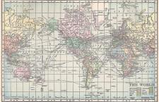 mapa świata 1911