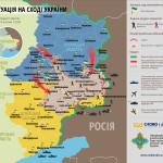 Sytuacja na wschodzie Ukrainy 21-24 lipca 2014 – mapy
