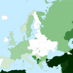 Islam w Europie – mapa