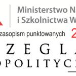 """""""Przegląd Geopolityczny"""" na nowej liście czasopism punktowanych MNiSW"""
