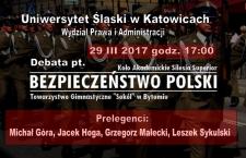 Debata na Uniwersytecie Śląskim: Bezpieczeństwo Polski w XXI wieku