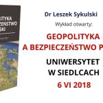 Wykład dr. Leszka Sykulskiego na Uniwersytecie w Siedlcach