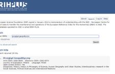 """""""Przegląd Geopolityczny"""" w bazie ERIH Plus"""